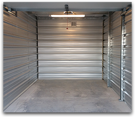 Safeguard Storage of Wisconsin | Climate Controlled Unitl | Climate Controlled Unit Interior w/ LED Lighting & Waterproof Contoured Floors