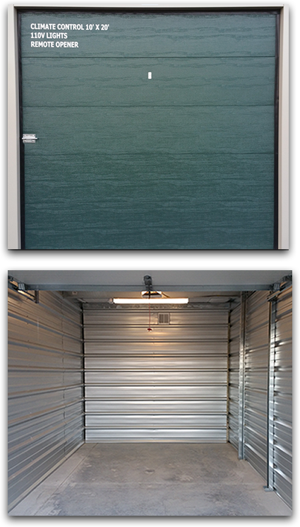 Safeguard Storage of Wisconsin | Climate Control | Drive-Up Climate Controlled Units w/ Remote Access & Opener & LED Lighting